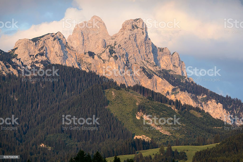Tannheimer Tal, Rote Flüh stock photo