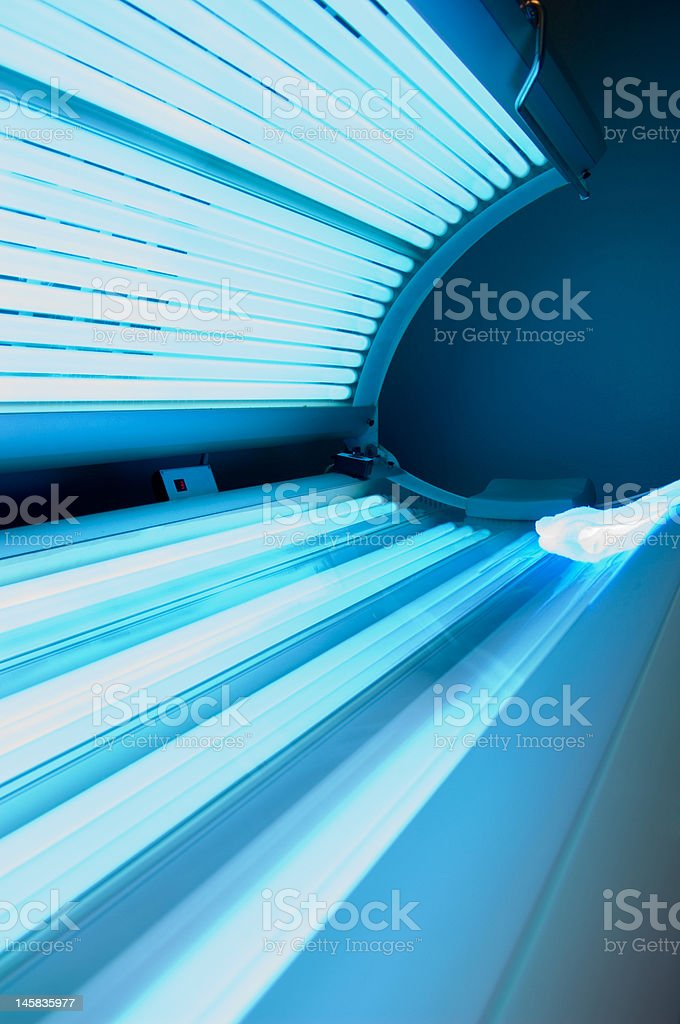 Tanning bed royalty-free stock photo