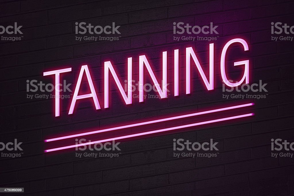 Tanning parlour neon sign royalty-free stock photo