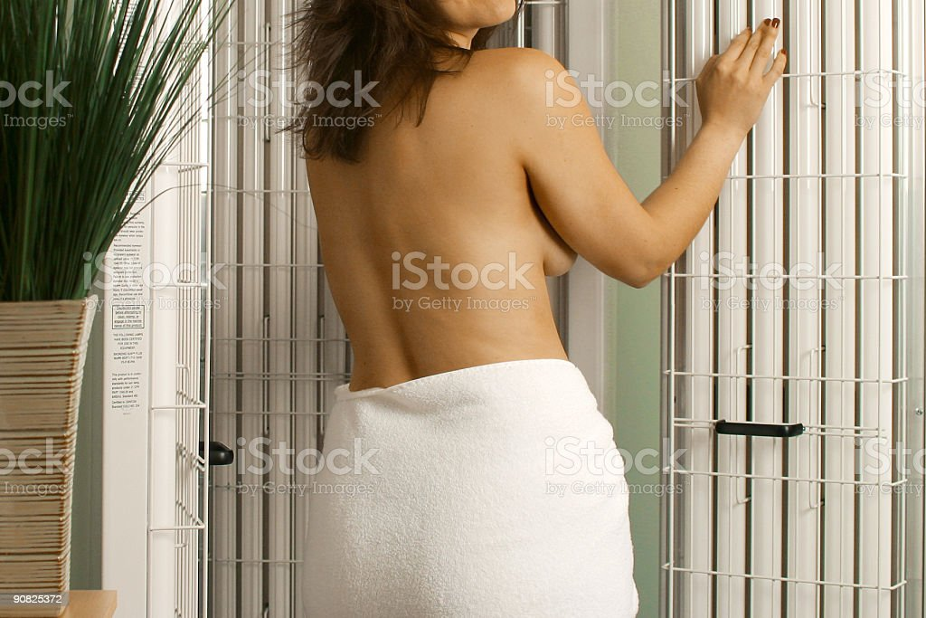Tanning royalty-free stock photo