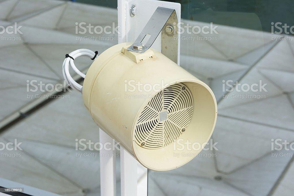 Tannoy loudspeaker in white royalty-free stock photo