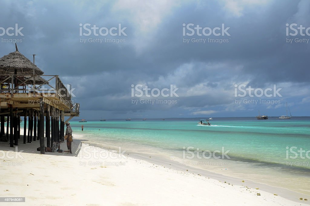 playa tanzania stock photo