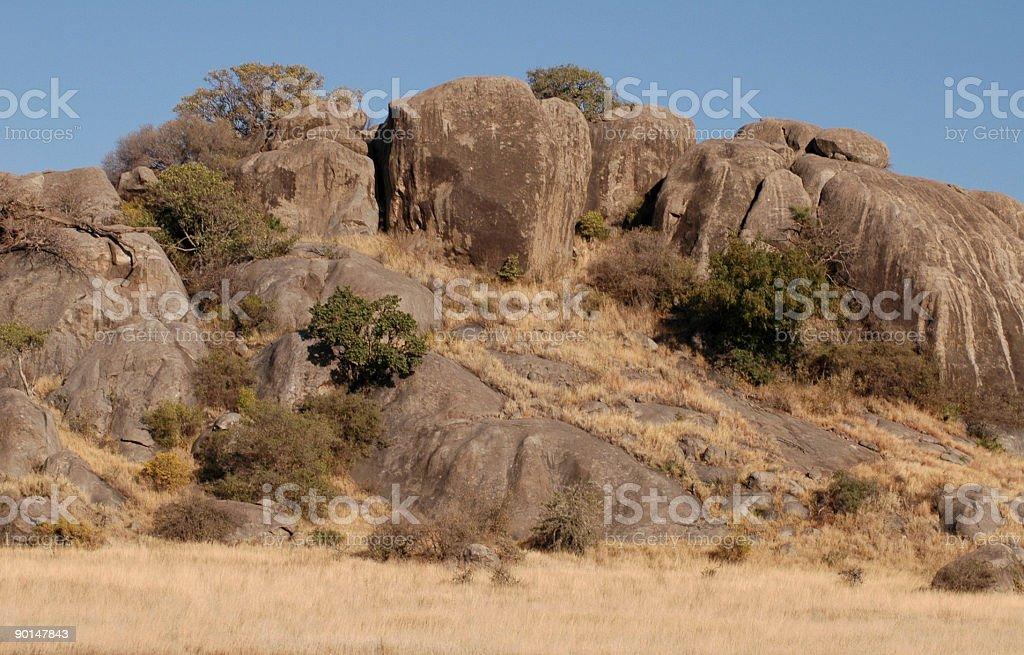 Pedras da Tanzânia foto de stock royalty-free