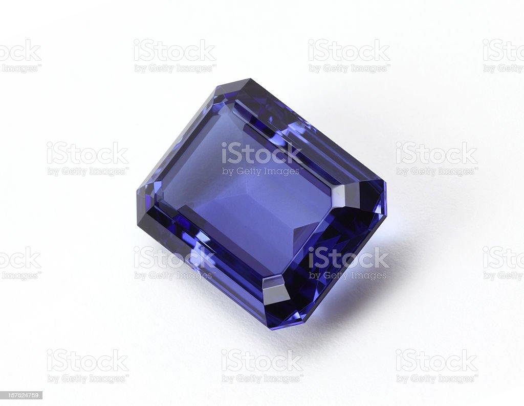 Tanzanite Gem Stone royalty-free stock photo