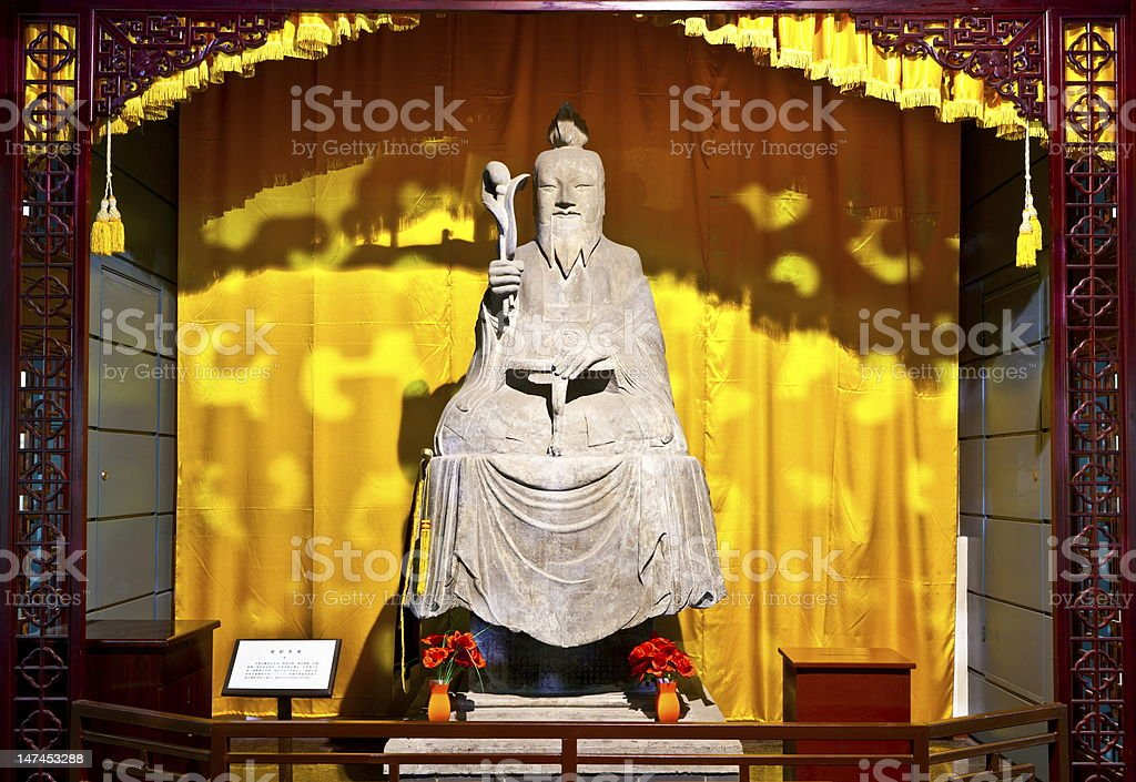 Taoism Changyang Senior-stone carving(A.D.719) royalty-free stock photo