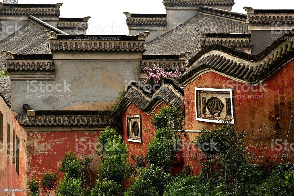 Taoist monastery stock photo
