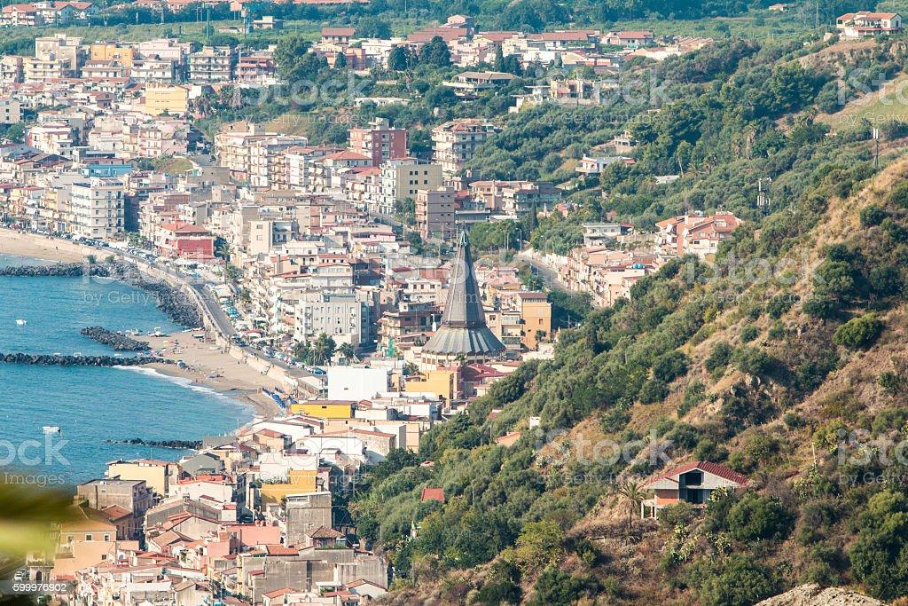 Taormina in Messina Province, Sicily stock photo