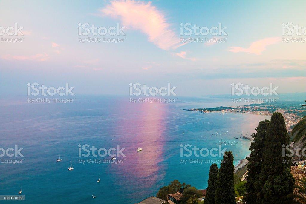 Taormina in Messina, Sicily stock photo