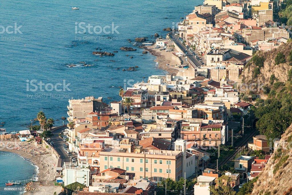 Taormina in Sicily, Italy stock photo
