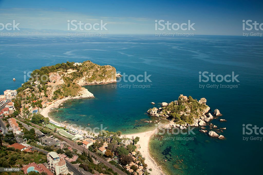 Taormina, Isola Bella stock photo