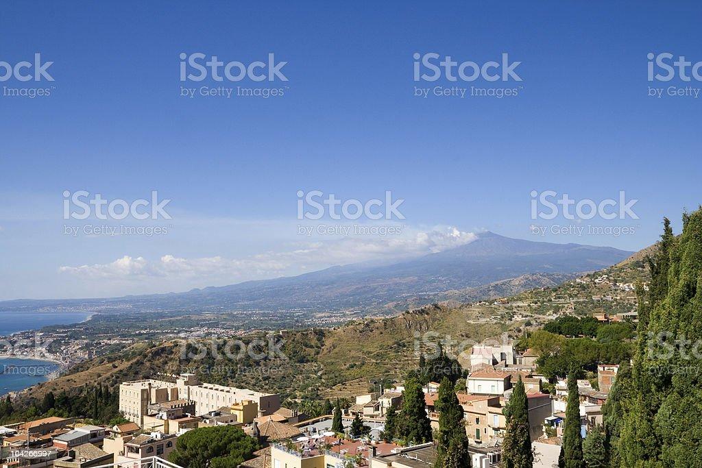 Taormina Landscape royalty-free stock photo