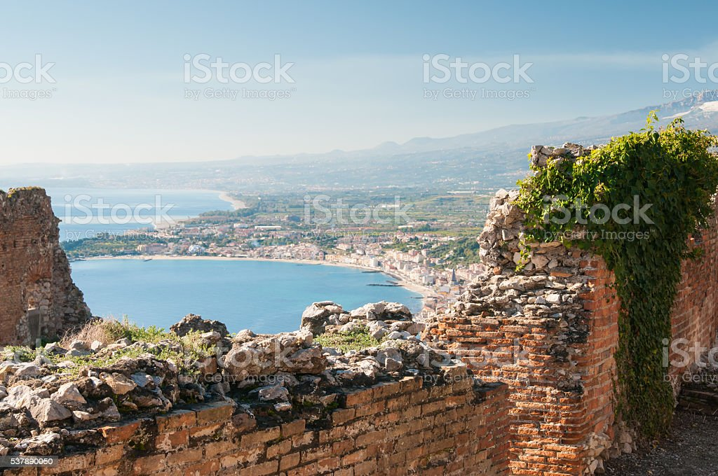 Taormina theater stock photo