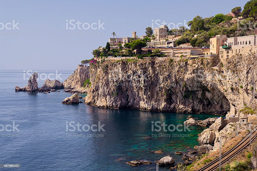 Taormina View stock photo