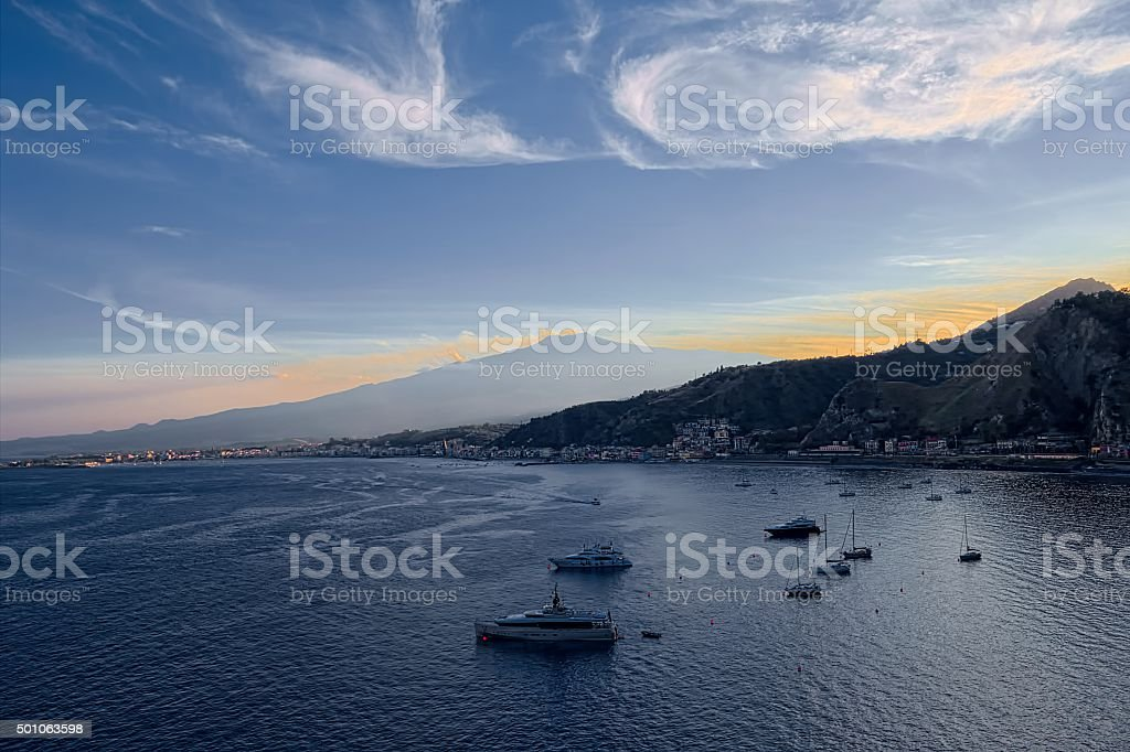 Taormina View stock photo