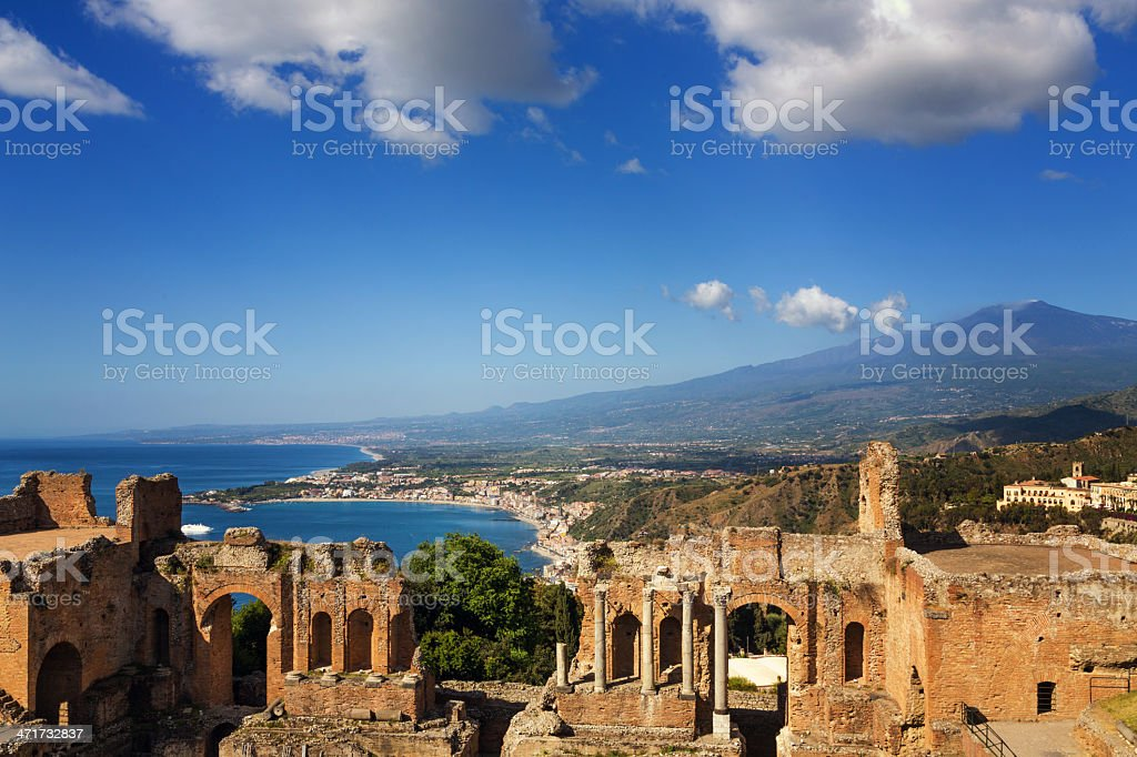 Taormina-Sicily royalty-free stock photo