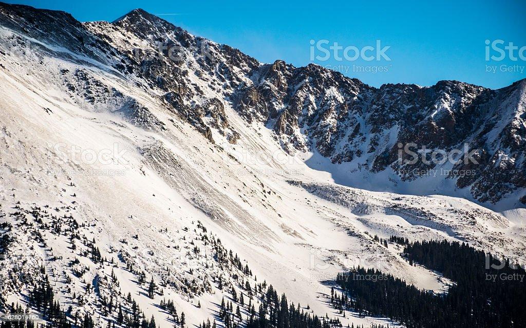 Taos New Mexico Rugged Mountain Range stock photo