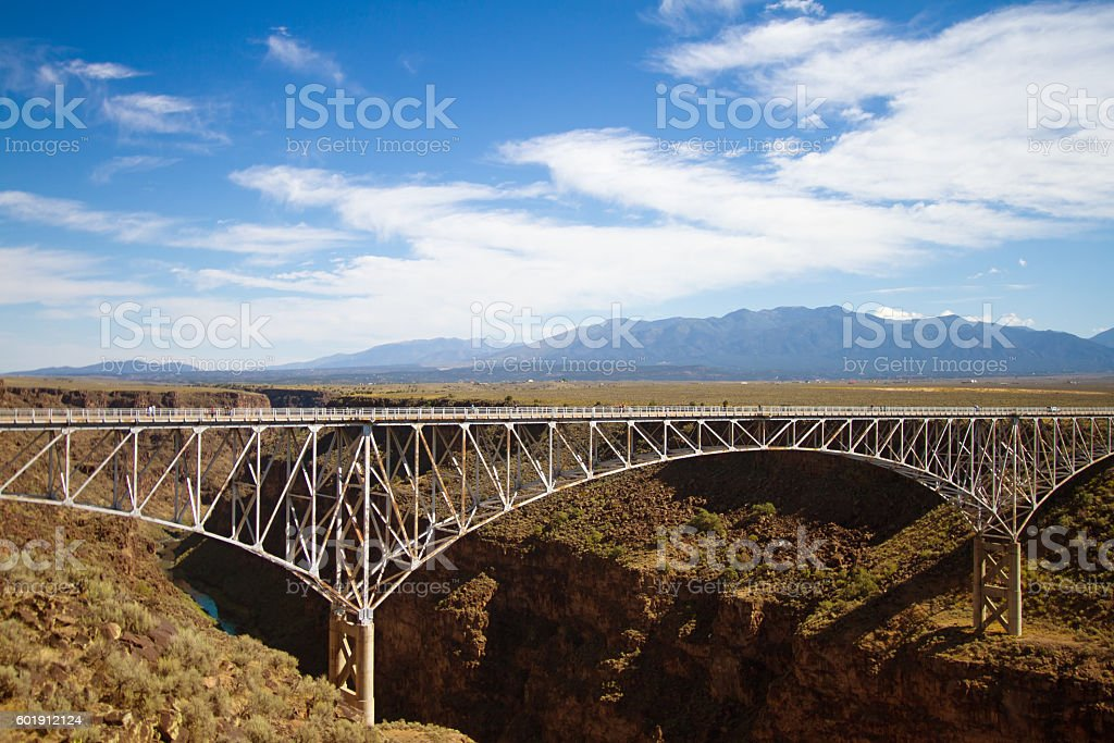 Taos, NM: Rio Grande Gorge Bridge stock photo