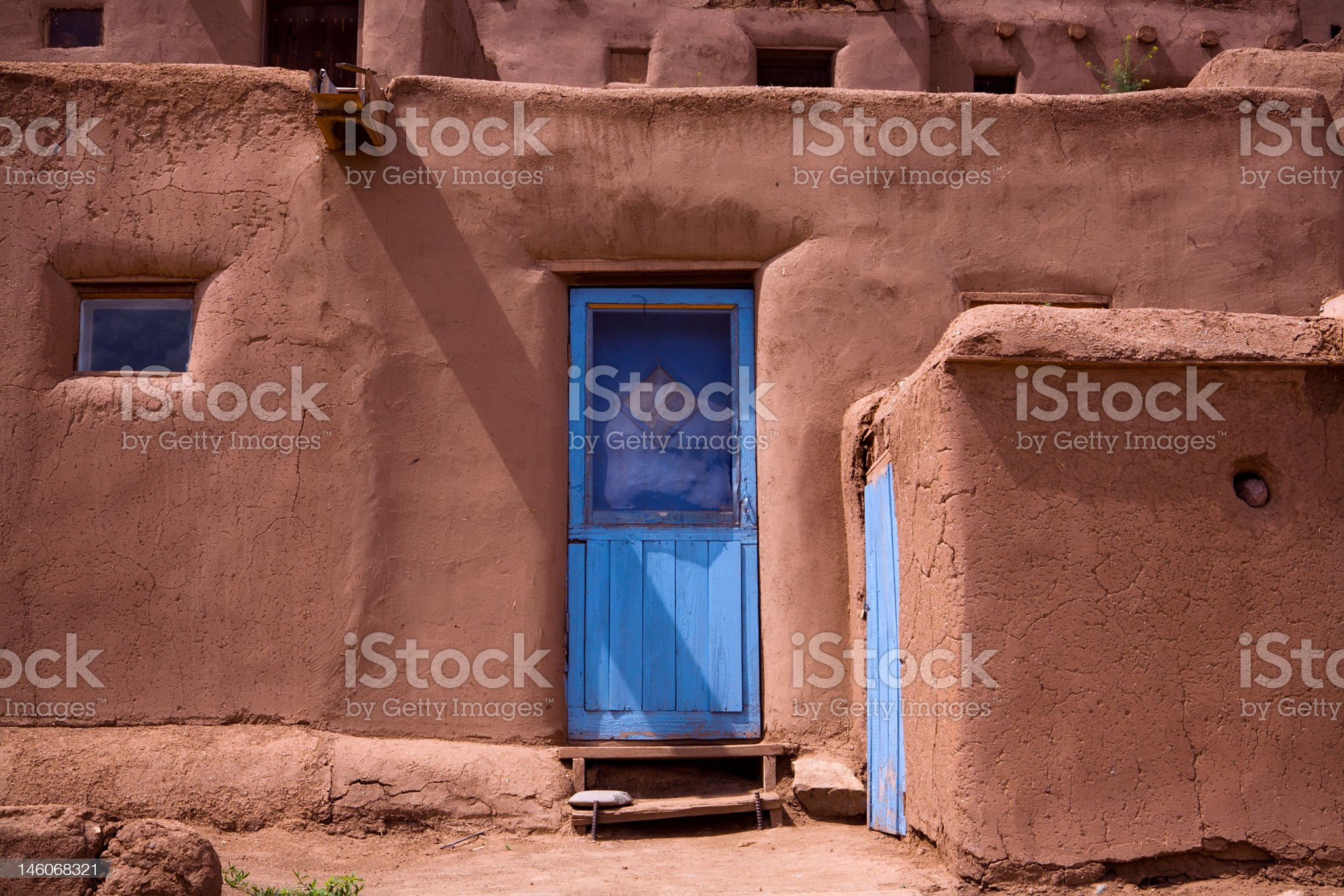 Taos Pueblo Adobe royalty-free stock photo