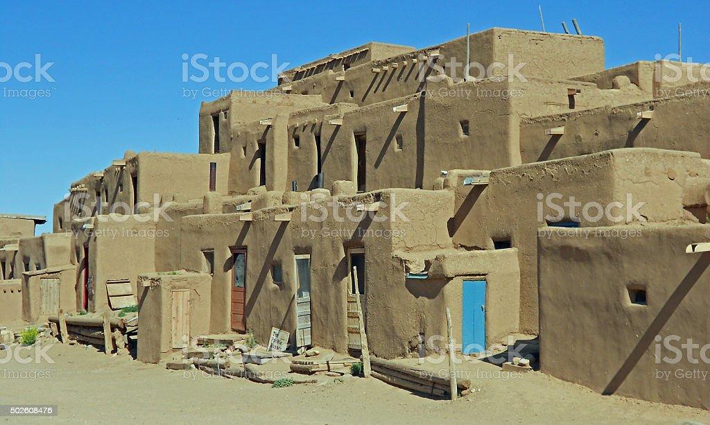 Taos Pueblo Adobe Structures stock photo