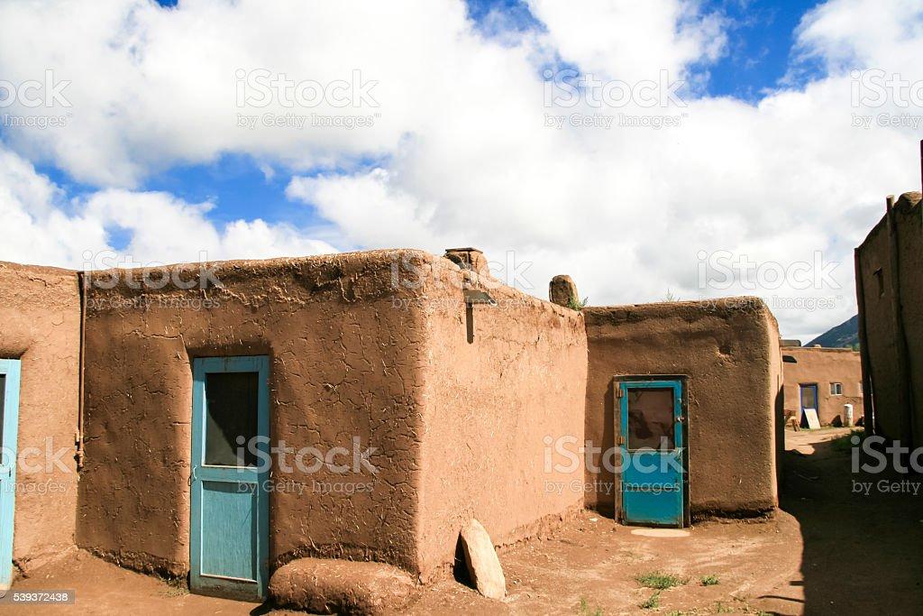 Taos Pueblo in New Mexico, USA stock photo