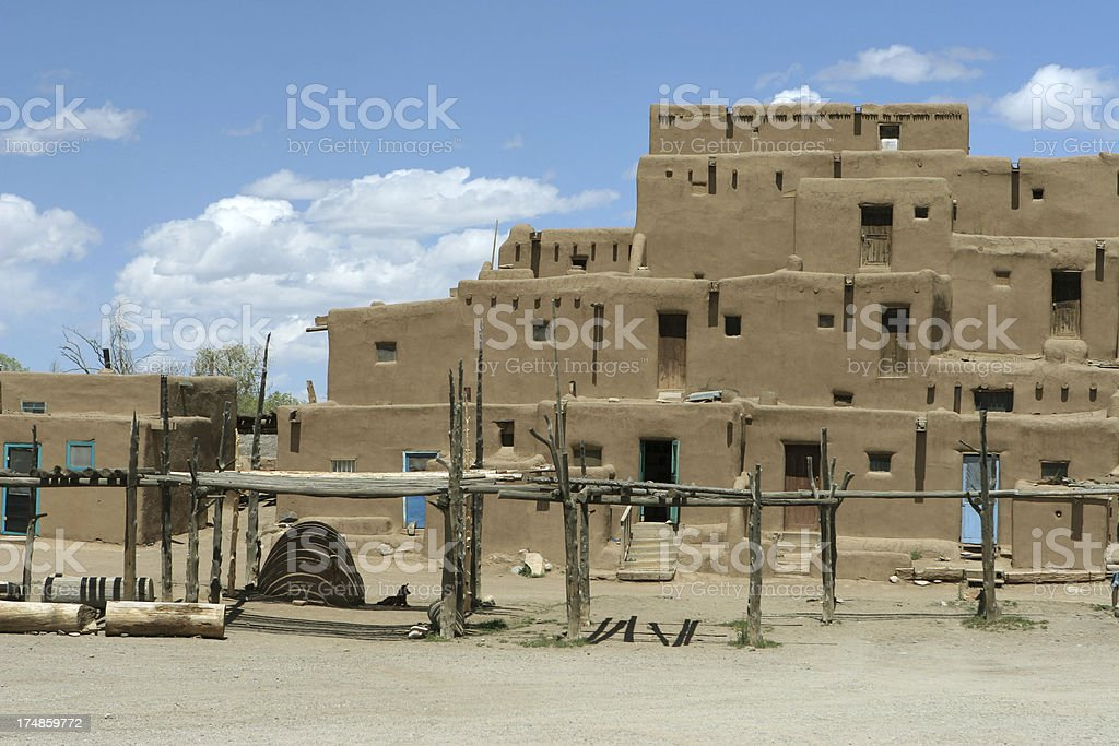 Taos Pueblo New Mexico royalty-free stock photo