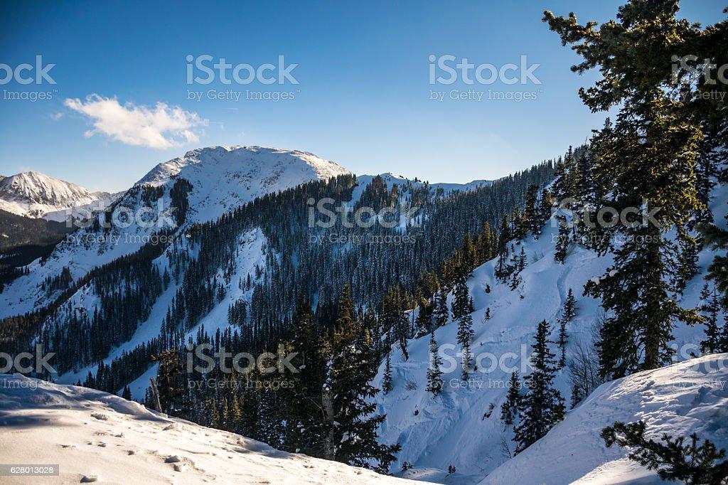 Taos Ski Valley Ultimate Highline Ridge Kachina Peak stock photo