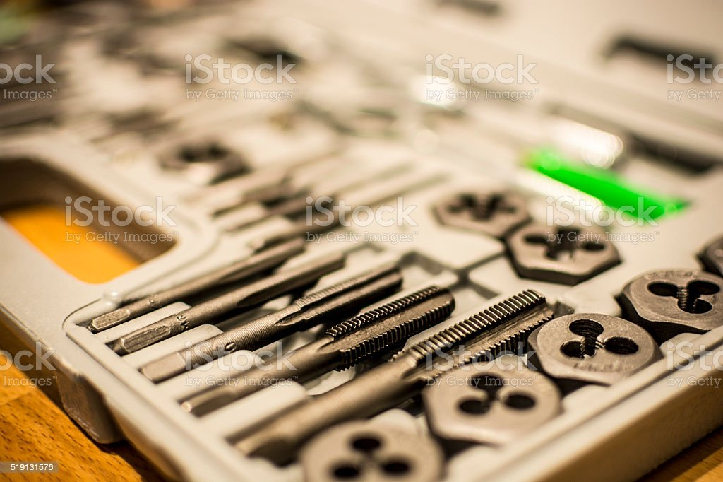 Tap and Die Set stock photo