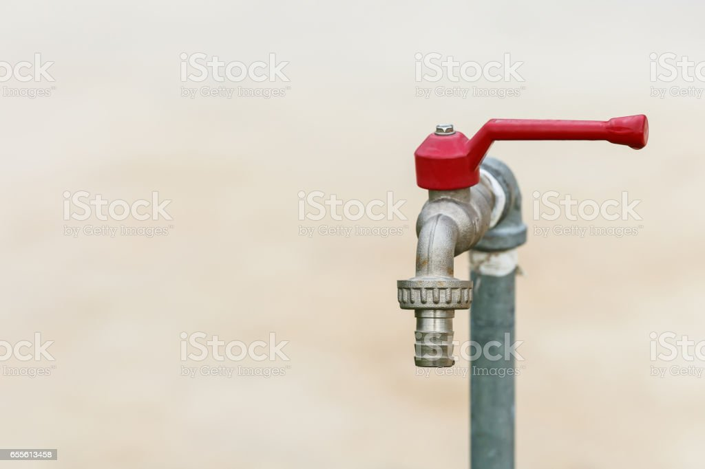 Tap and saving water stock photo