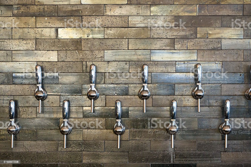 Tap Handles at Taphouse stock photo