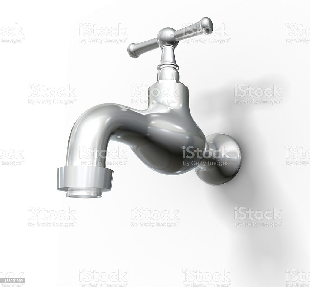 Tap, isolated on white w. clipping path royalty-free stock photo