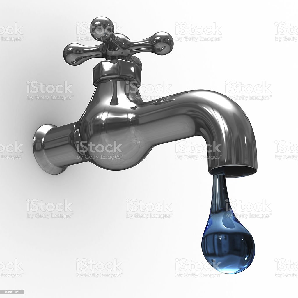 tap on white background. Isolated 3D image stock photo