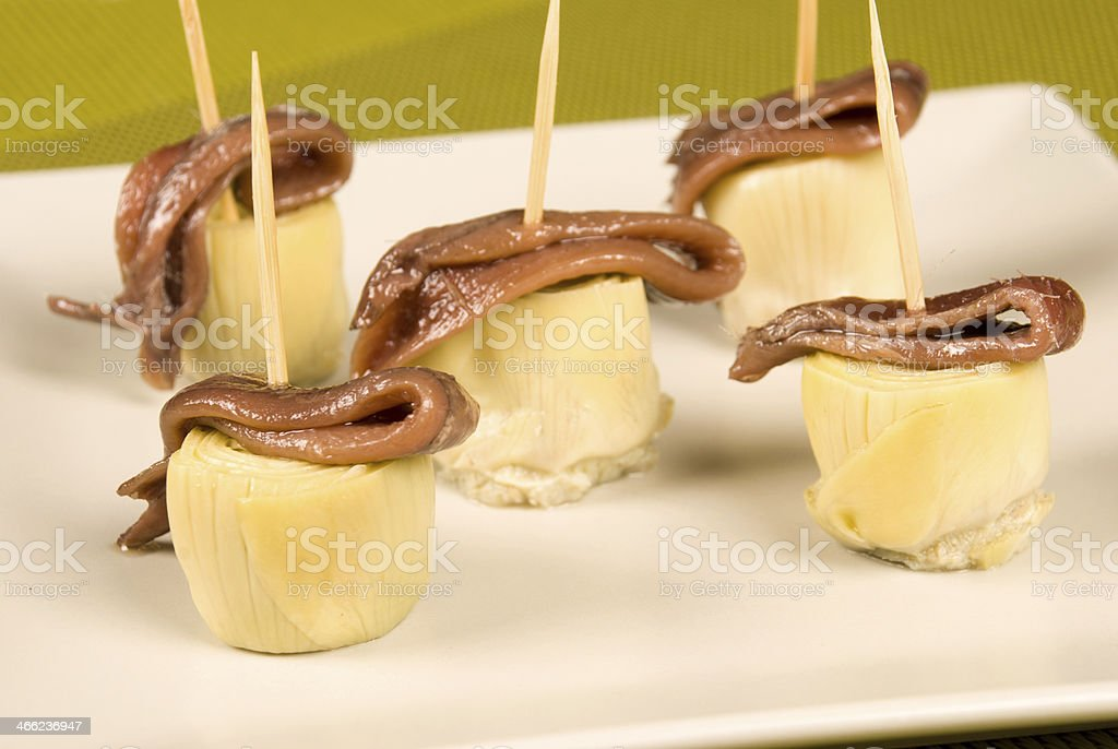 Tapa on toothpick royalty-free stock photo