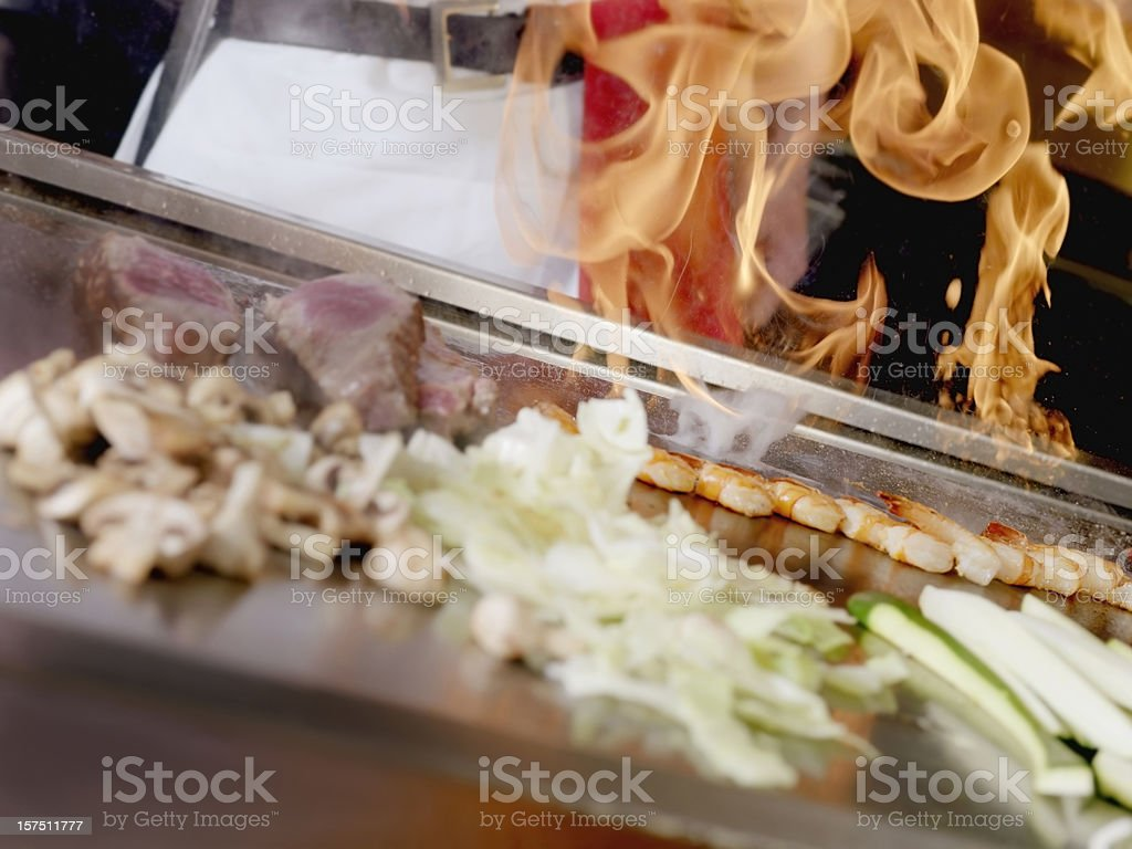 Tapanyaki, Japanese Cooking royalty-free stock photo