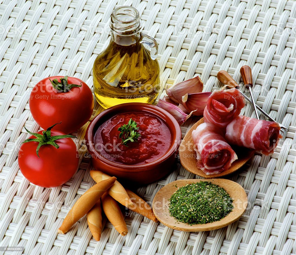 Tapas and Ingredients stock photo