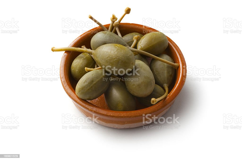 Tapas: Capers royalty-free stock photo