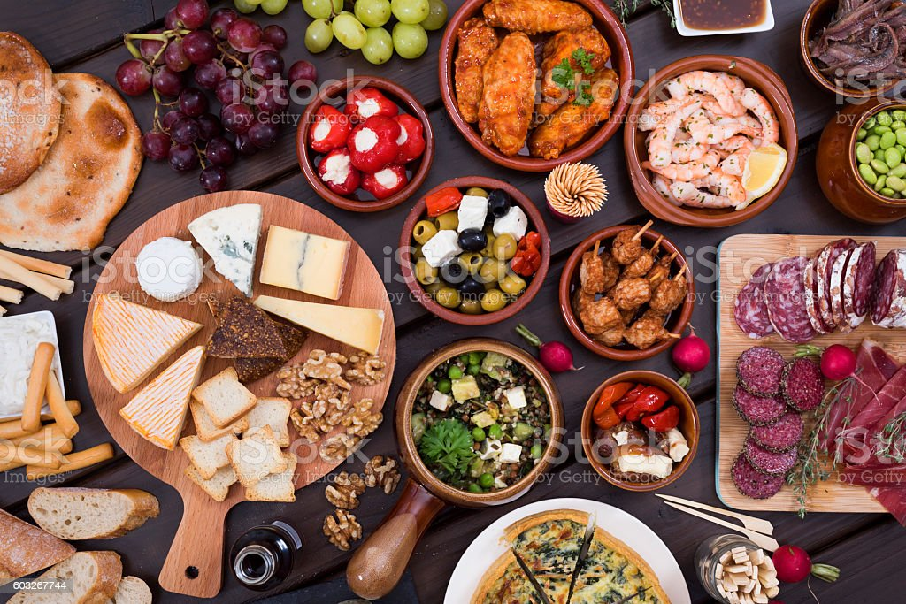 tapas food stock photo