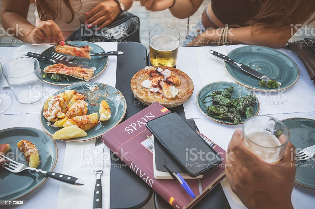 Tapas in Barcelona, Spain stock photo