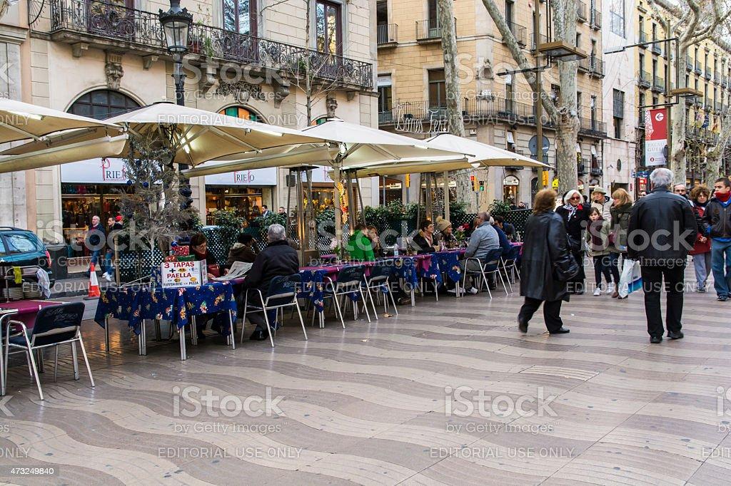 Tapas, paella and sangria stock photo