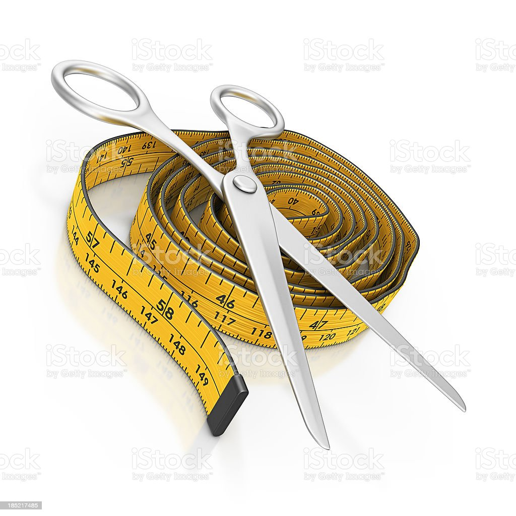 tape and scissors royalty-free stock photo