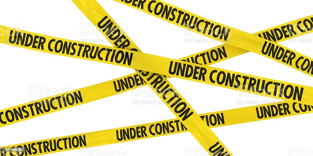 UNDER CONSTRUCTION Tape Background stock photo