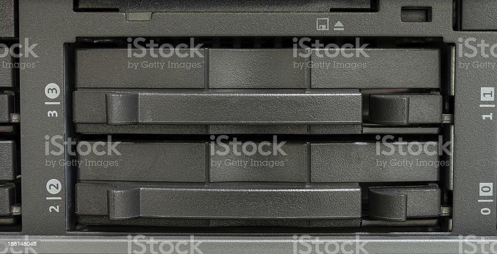 Tape backup drive stock photo