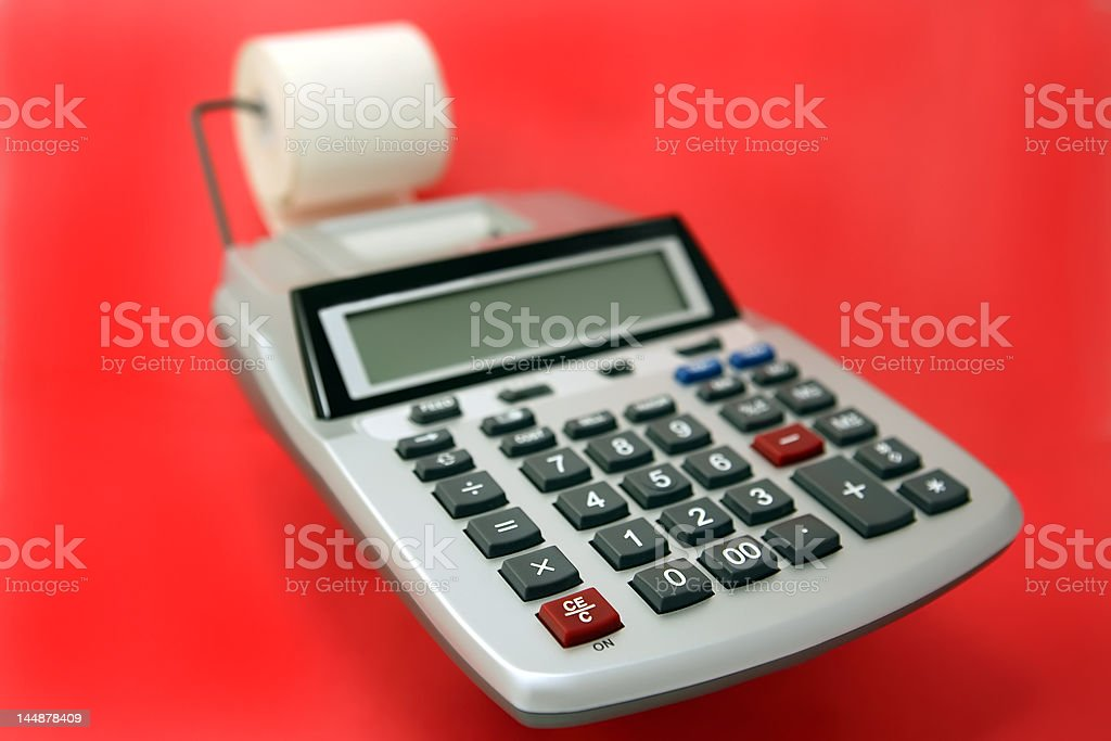 tape calculator royalty-free stock photo