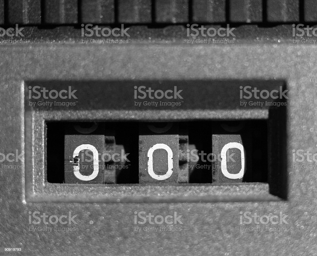 tape counter stock photo