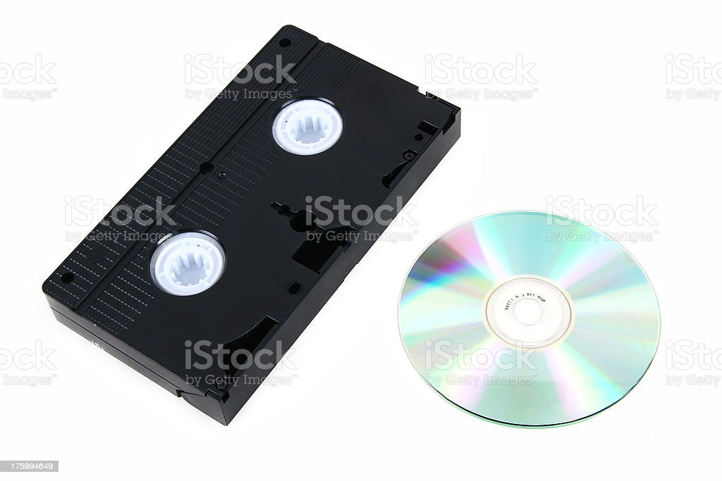 VHS Tape & DVD royalty-free stock photo
