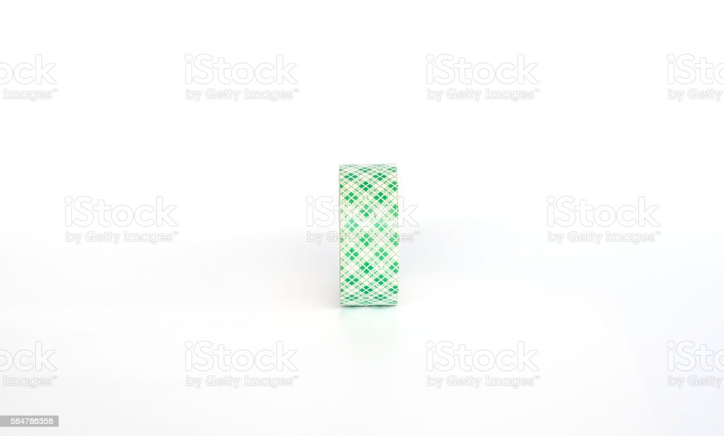 Tape foam on white screen background. stock photo