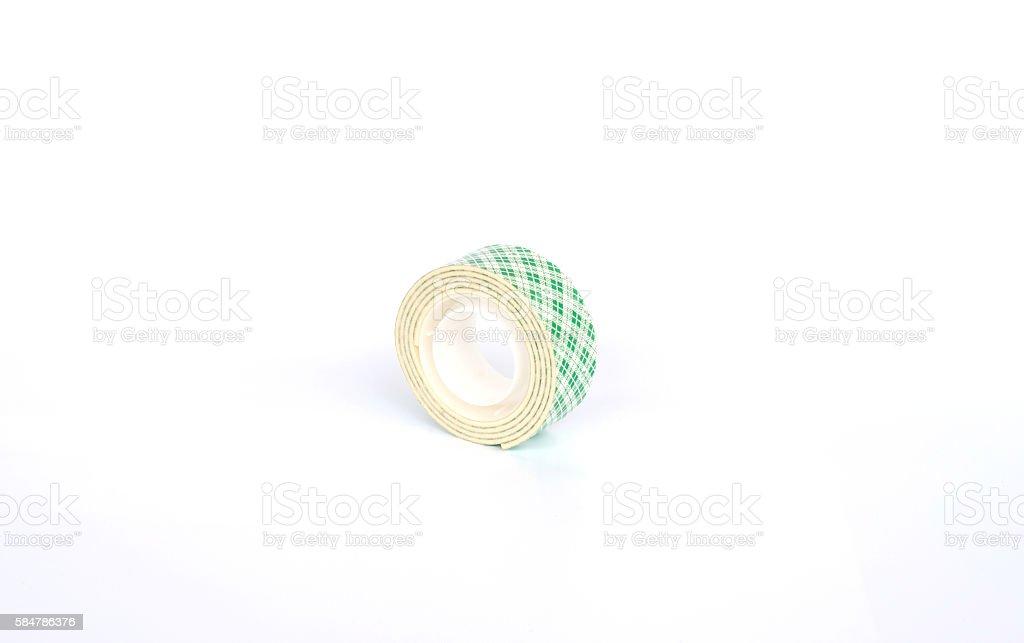 Tape foam on white screen background. stock photo