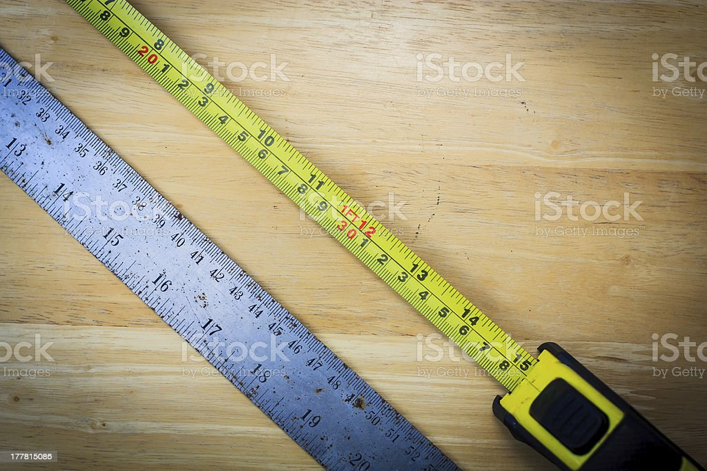 tape measure and ruler royalty-free stock photo