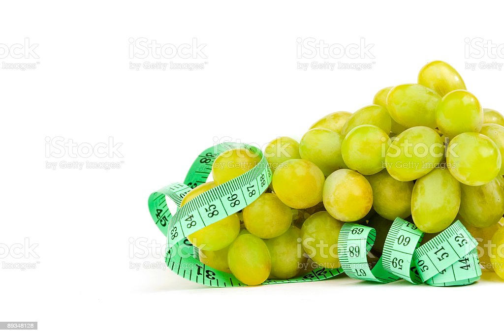 Tape Measure Around Grape royalty-free stock photo
