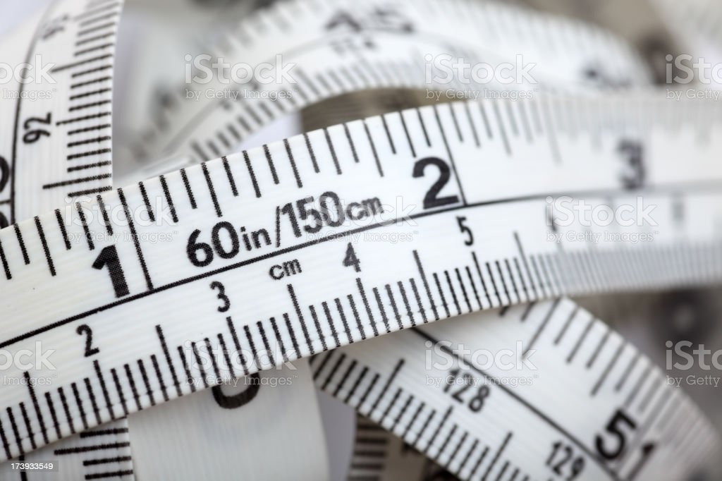 Tape measure close-up royalty-free stock photo
