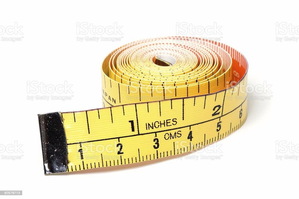 Tape Measure Closeup royalty-free stock photo